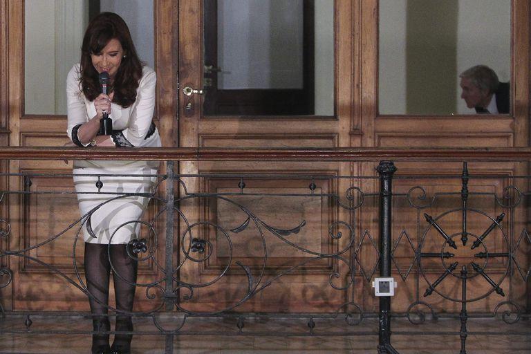 Cristina Kirchner le habló a la militancia, que la aplaudió por el default derivado del no pago a los holdouts
