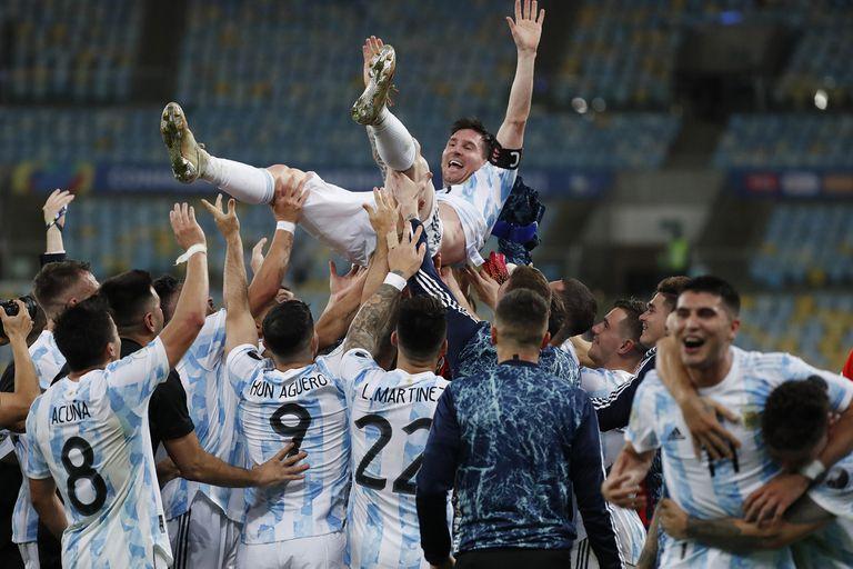 La selección argentina se consagró como campeona de la Copa América 2021 en el estadio Maracaná