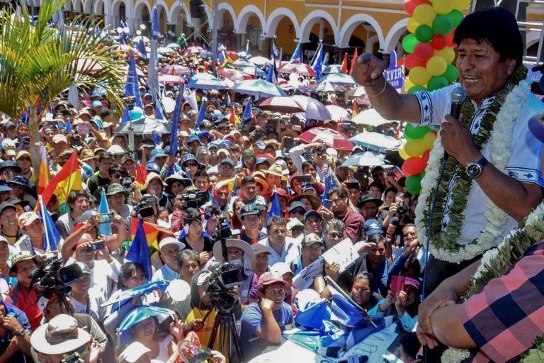 Hubo marchas a favor y en contra de Evo Morales