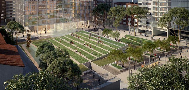 Una nueva plaza en Córdoba y Reconquista, el primer hito en la transformación del microcentro
