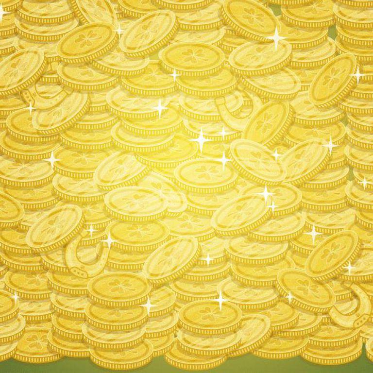 Escondidas entre las monedas hay cuatro herraduras