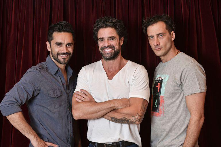 Tres galanes al desnudo: Gonzalo Heredia, Luciano Castro y Luciano Cáceres