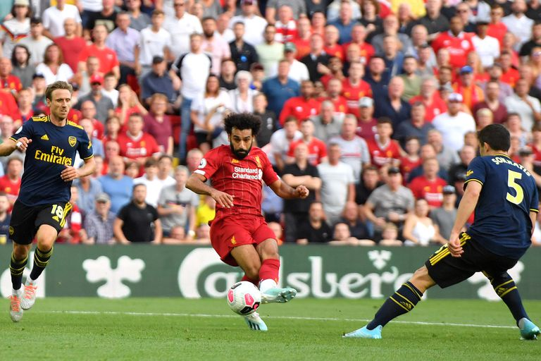 Salah consuma su obra para Liverpool: golazo ante Arsenal en Anfield.