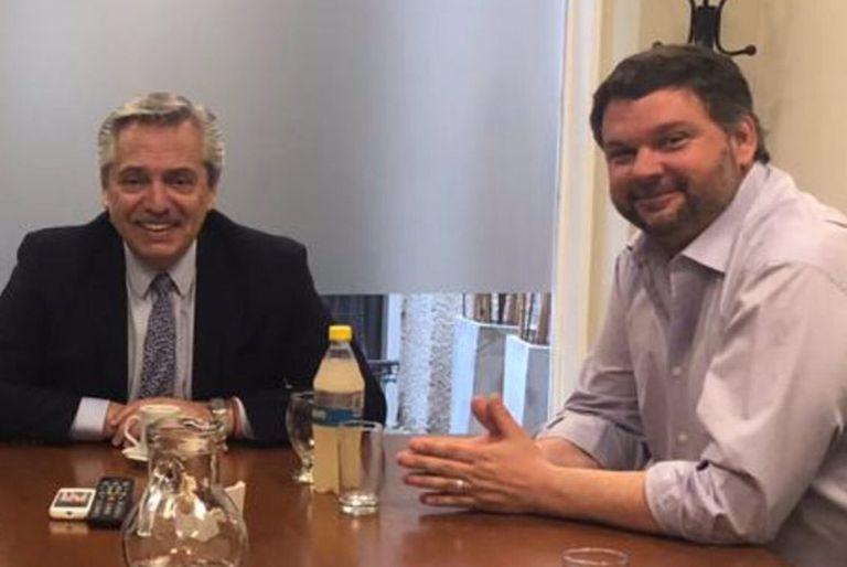 Santiago Igón junto con el presidente Alberto Fernández