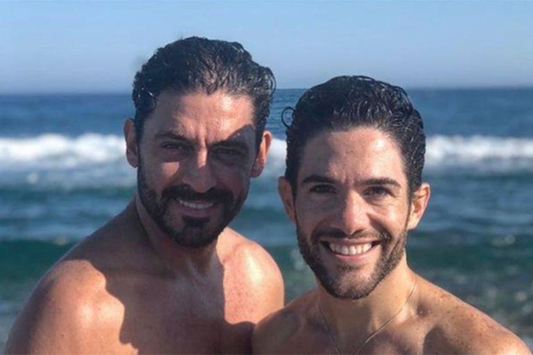 Hernán Piquín se emocionó al escuchar un mensaje de su novio, el bailarín de flamenco Agustín Barajas
