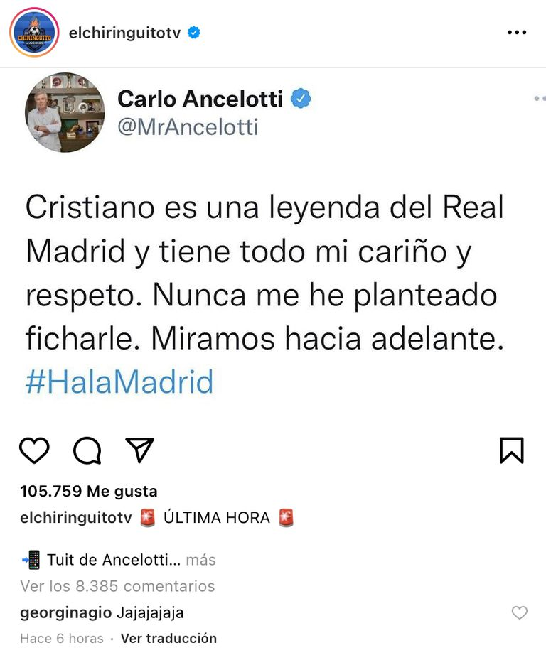 La respuesta de Georgina Rodríguez al DT del Real Madrid
