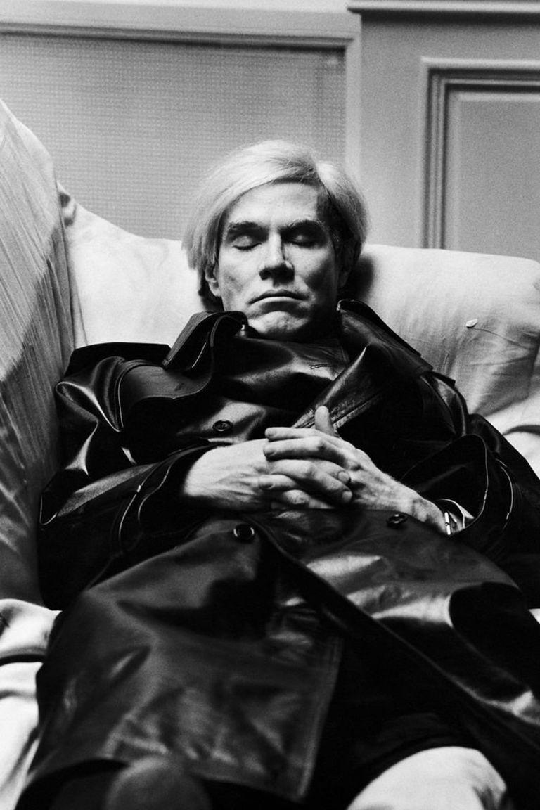 Andy Warhol por Helmut Newton, en 1974