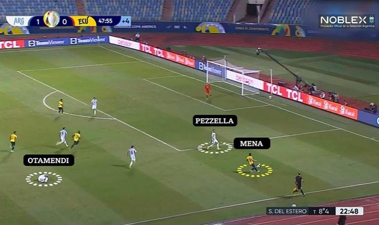 Análisis táctico de la Argentina ante Ecuador, por la Copa América: Otamendi perdió en el salto y Pezzella se corrió como lateral izquierdo