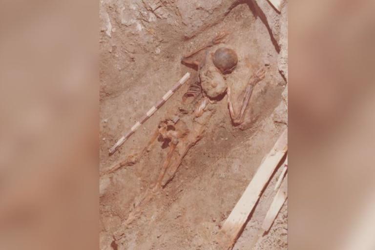 El esqueleto fue descubierto en 1982, pero recientemente se descubrió el tipo de material que llevaba el soldado gracias a los avances de la tecnología