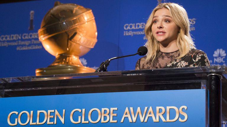 Chloe Grace Moretz, en el anuncio de los nominados