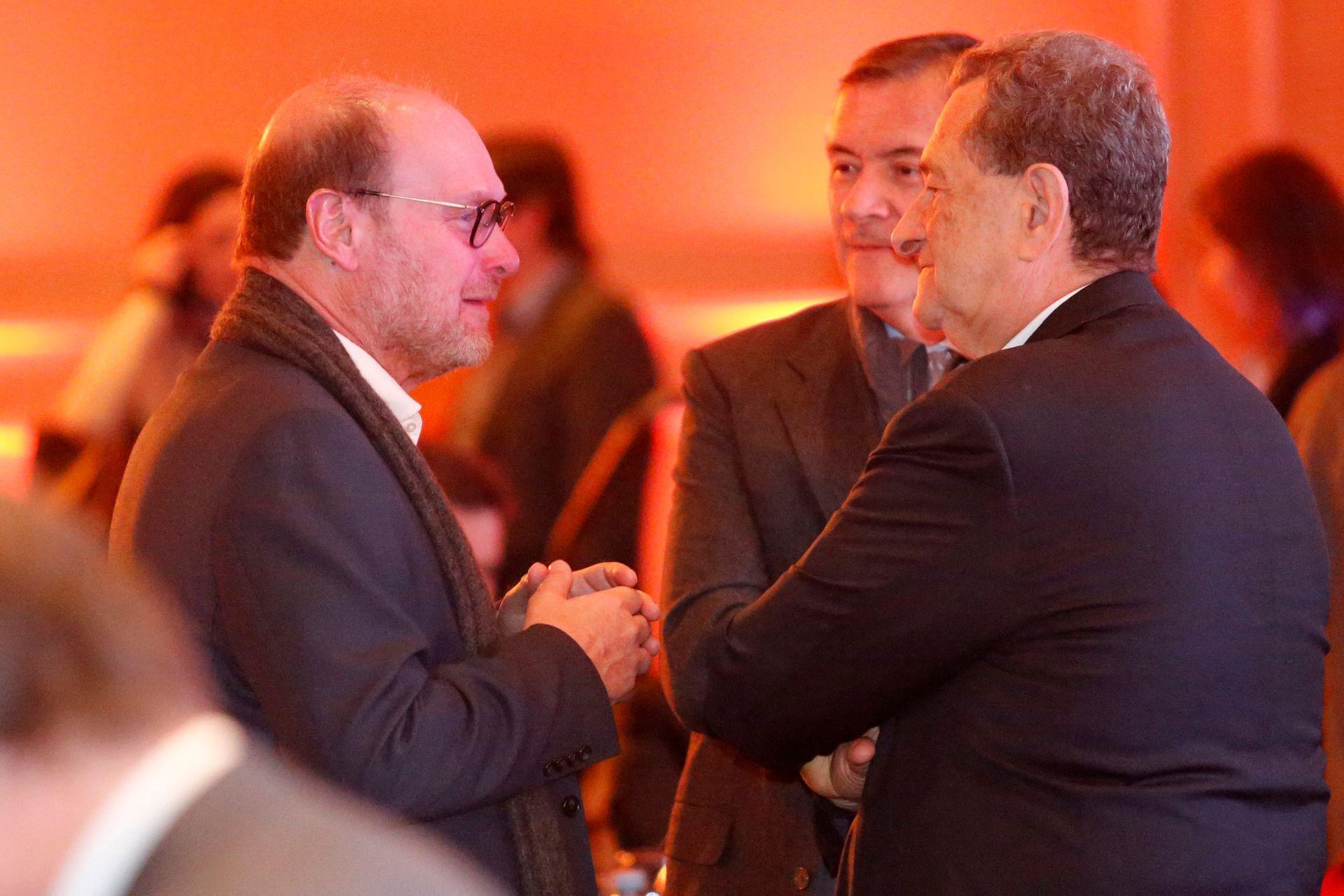 Gustavo Grobocopatel, titular del grupo Los Grobo, junto al economista Bernardo Kosacoff