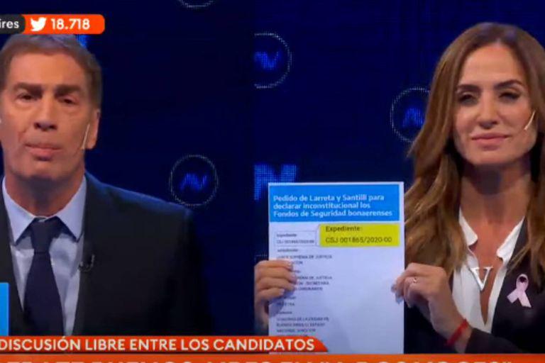 El intenso cruce entre Tolosa Paz y Santilli que generó la reacción de todos los candidatos