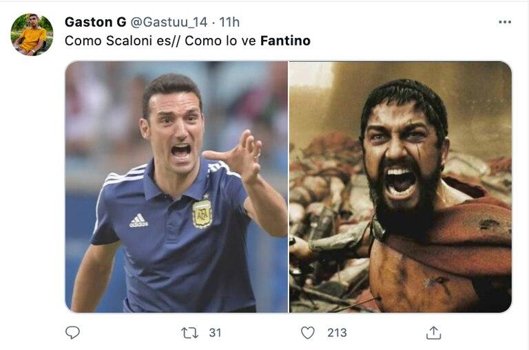 Los mejores memes tras la entrevista de Fantino a Scaloni