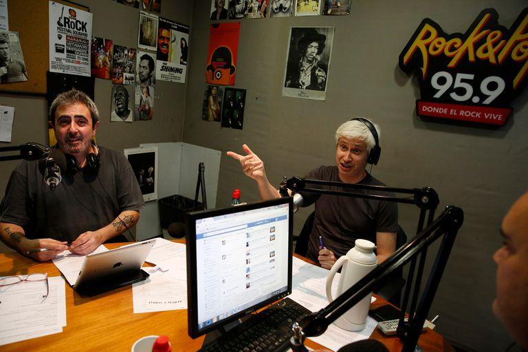 Eduardo de la Puente y Juan Di Natale, en Rock and Pop