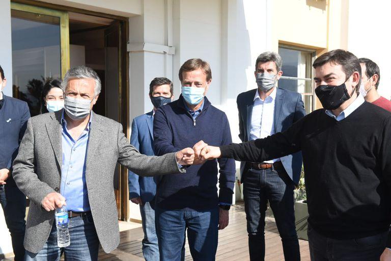 Cornejo, Suárez y De Marchi sellaron un acuerdo para unificar listas en Mendoza