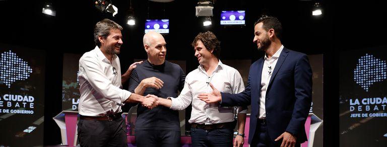 En fotos. Los mejores momentos del debate a Jefe de Gobierno porteño