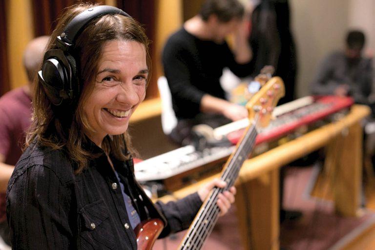 Gaby Martínez, grabando el último disco de La Pelotas