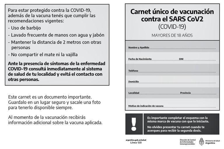 Certificado de vacunación que entrega la ciudad de Buenos Aires a las personas