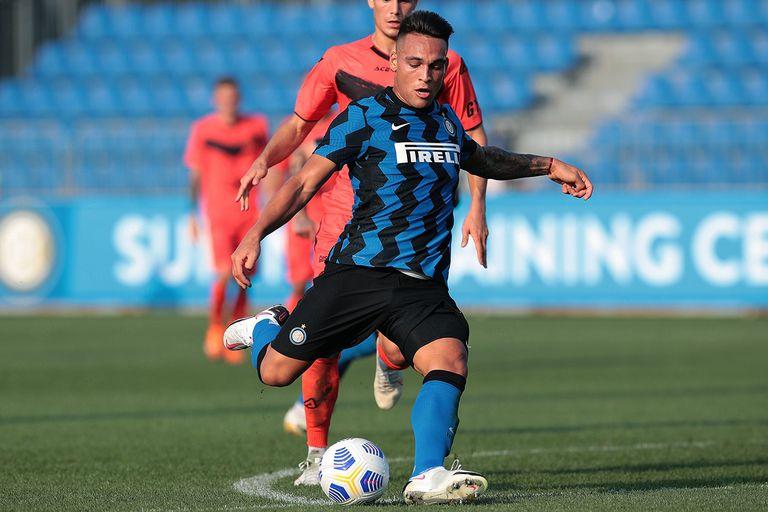 Lautaro Martínez marcó el tercer y cuarto gol de Inter, ante Lugano