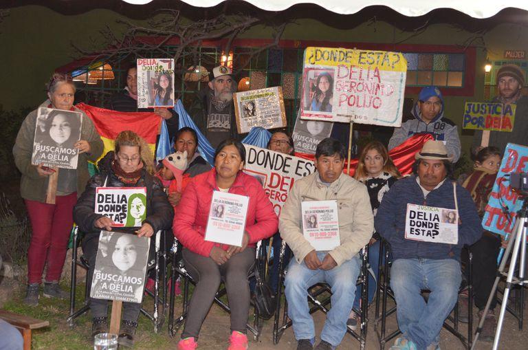 Movilización por la desaparición de cinco personas en siete años
