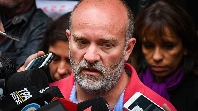 Sergio Maldonado viajó con su familia a Uruguay para pedir ayuda a la CIDH