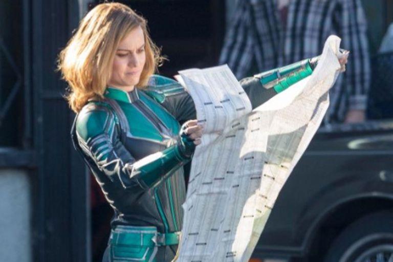 Las fotos dejaron al descubierto un dato que permanecía en el misterio: cómo será el traje de la heroína de Marvel