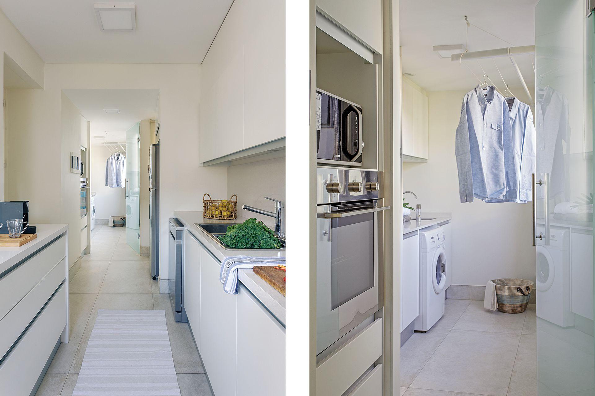 La antigua dependencia de servicio, que no se usaba como tal, fue transformada en un cómodo lavadero.