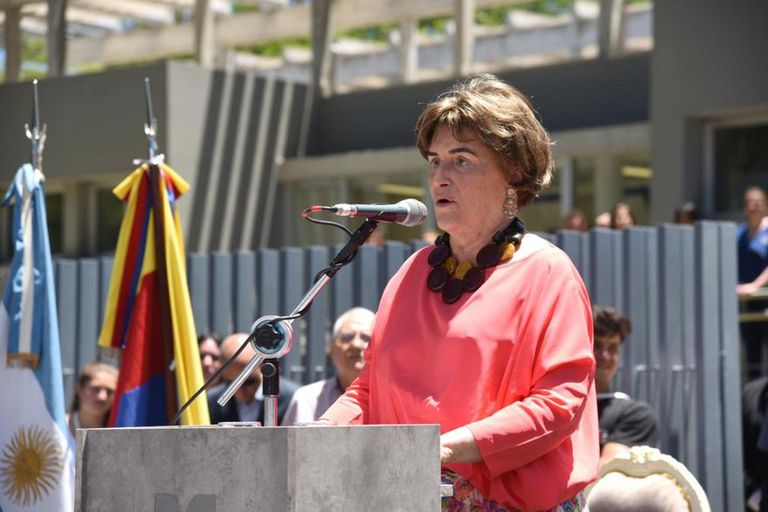 Elena Bonatti Rocca durante la inauguración del centro oncológico que donó en Corrientes, hace dos años