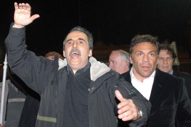 Guillermo Moreno y Acero Cali, durante la marcha en apoyo del Gobierno en 2008