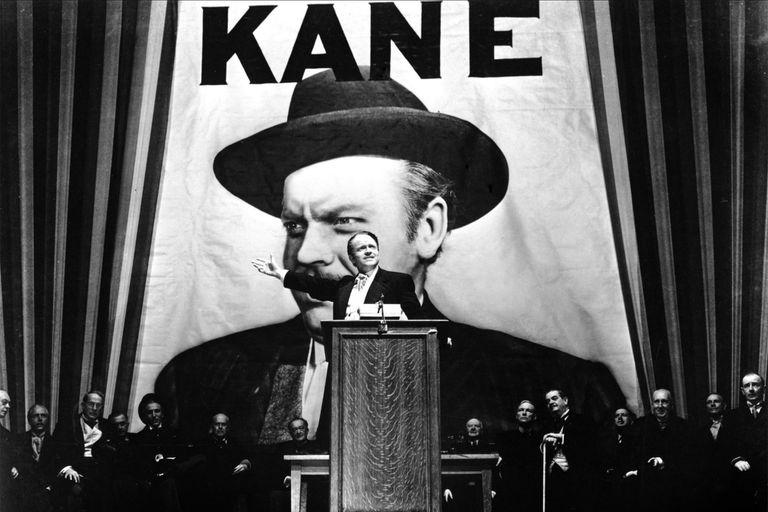 Welles como Charles Foster Kane, el alterego de William Randolph Hearst en el guion de Herman J. Mankiewicz