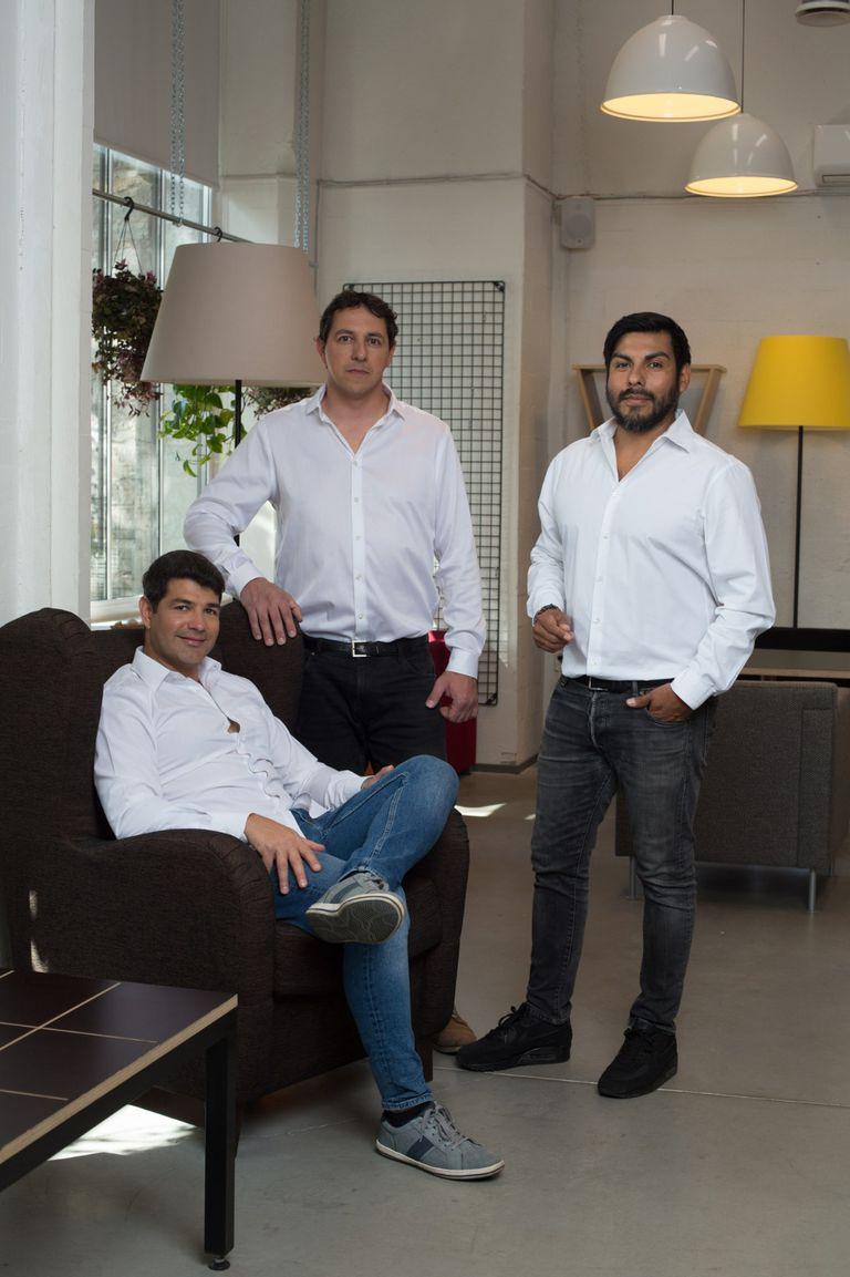 Pablo Palma, Mariano Chiesa y Matías Alvarez Capitaine, los tres socios del emprendimiento.