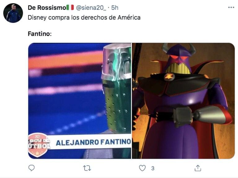 El casco de Fantino dio lugar a muchos memes en Twitter
