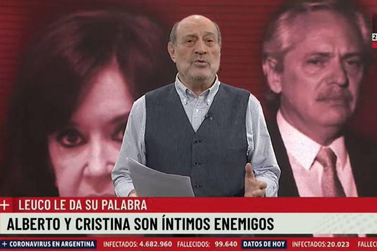 En su editorial de este martes, Alfredo Leuco se refirió a la relación entre Alberto Fernández y Cristina Kirchner, a la luz de los últimos cruces que han tenido en días recientes