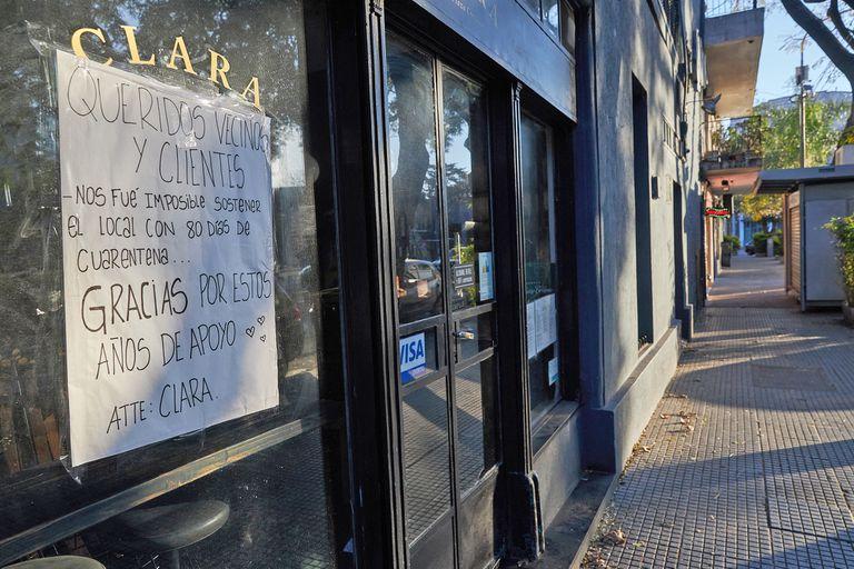 En la Ciudad alrededor del 30% de los negocios terminaron cerrando