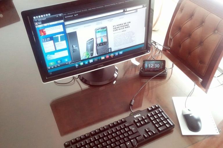 Motorola experimentó con el smartphone Atrix y un modo de escritorio que usaba el teléfono como motor