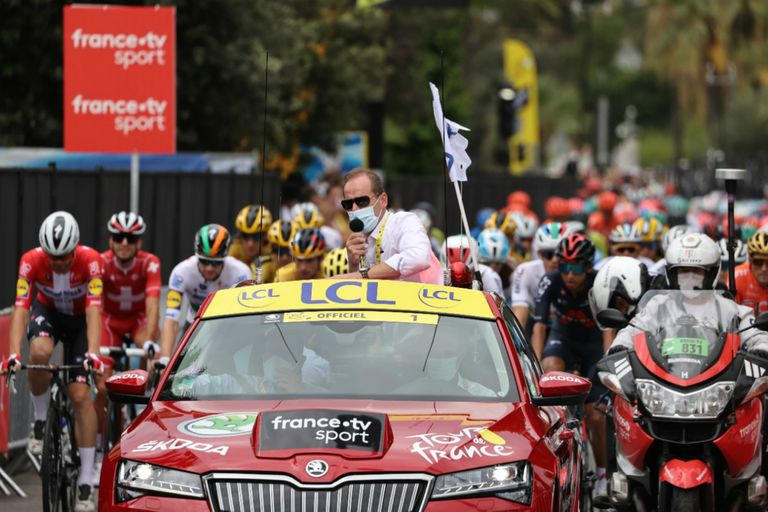 Tour de Francia. El director sufre de coronavirus y Macron cambió su agenda