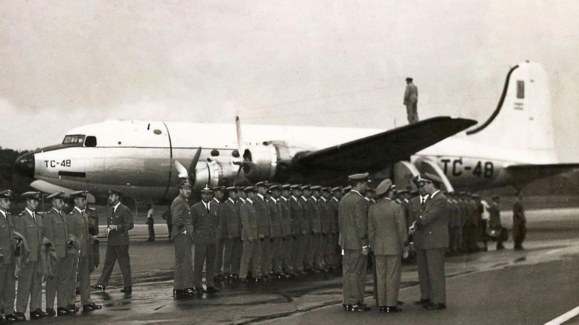 El TC-48 había tenido problemas de fuego en uno de sus motores antes de partir
