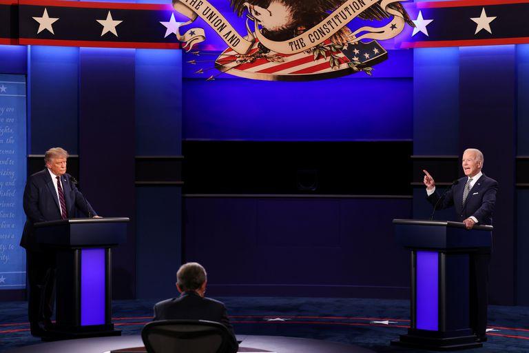 Donald Trump y el candidato demócrata Joe Biden participaron del primer debate presidencial en el Campus de la Universidad Case Western Reserve en Cleveland, Ohio