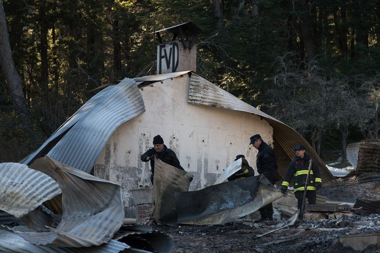 Así quedó un camping, que fue incendiado intencionalmente en agosto del año pasado