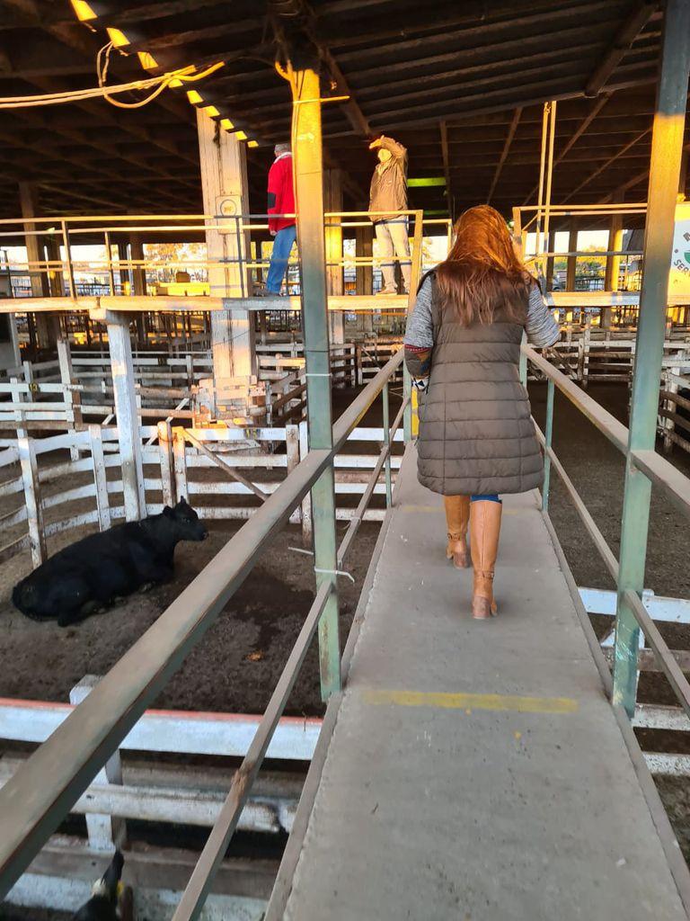 Gisele en las pasarelas del Mercado de Hacienda de Liniers