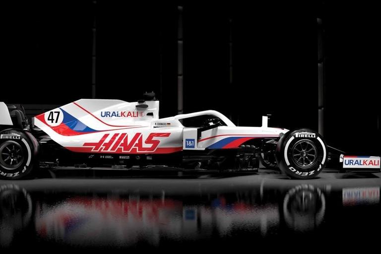Haas y la Fórmula 1 lo hicieron: los colores de la bandera rusa en un auto de una escudería estadounidense