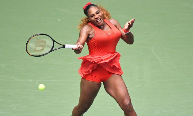 Rojo furioso, el outfit elegido para el US Open del año pasado