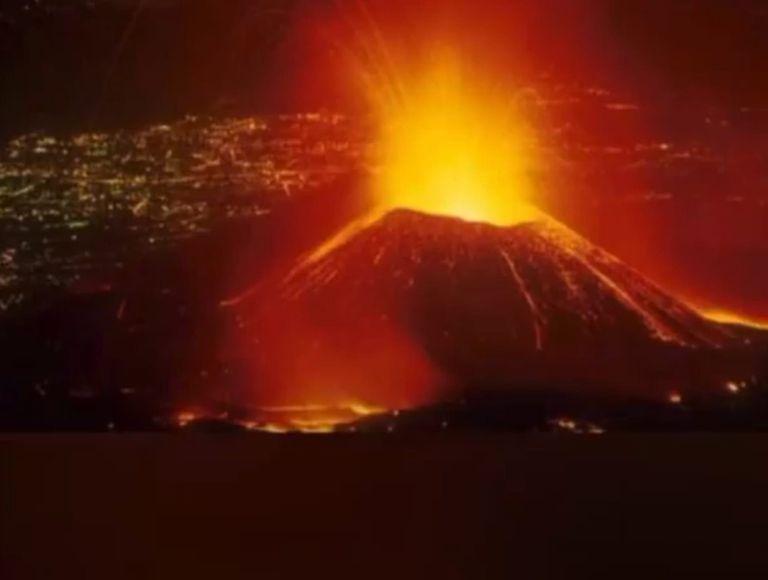 Erupción del volcán Nyiragongo