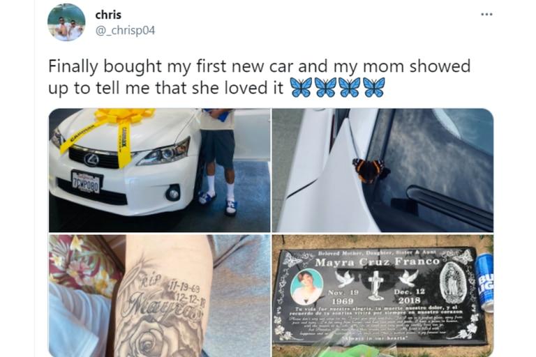 """""""Finalmente, compré mi primer auto nuevo y mi mamá se apareció para decirme que le encanta"""", escribió el joven en la red social"""