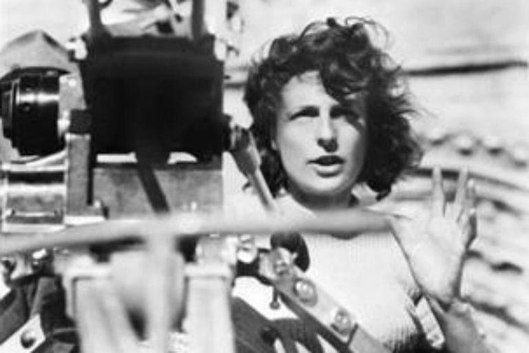 """Fue el camarógrafo de """"Olympia"""", el documental dirigido por Leni Riefenstahl (en la imagen)"""