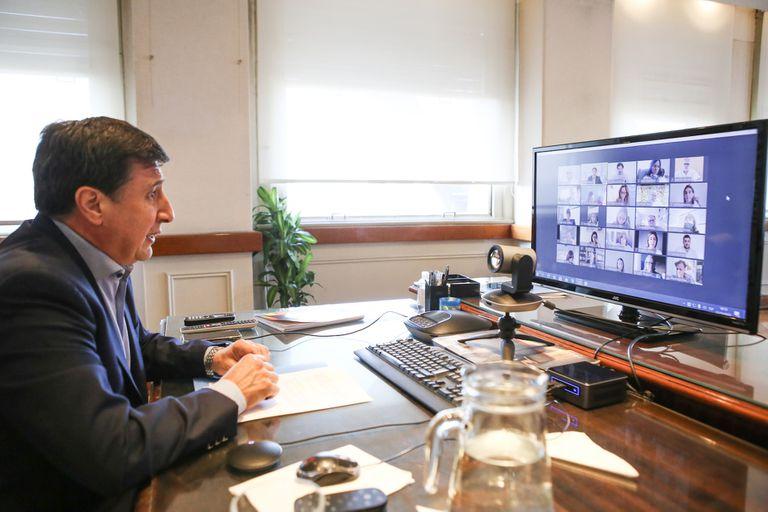El ministro de Desarrollo Social de la Nación, Daniel Arroyo, lidera la Mesa Argentina contra el Hambre con Victoria Tolosa Paz