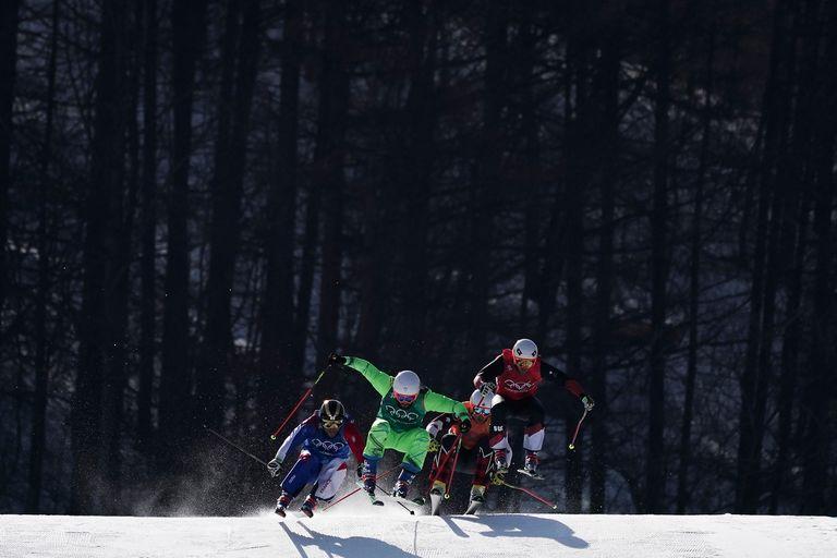Arnaud Bovolenta, de Francia, Filip Flisar, de Eslovenia, Dave Duncan, de Canadá, y Armin Niederer, de Suiza