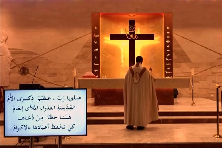 Beirut: en plena misa, una parroquia fue sorprendida por la explosión