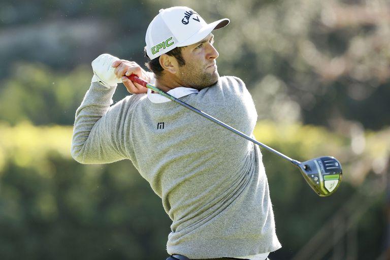 """Golf: el mágico birdie de Rahm y su reacción tras el tiro """"de videojuego"""""""