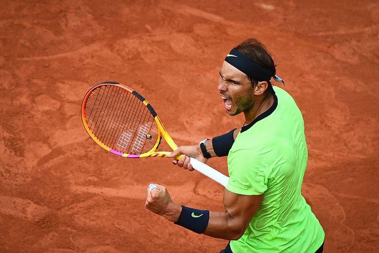 Rafael Nadal enfrenta al británico Cameron Norrie durante el partido de tenis individual masculino de la tercera ronda del día 7 del torneo de tenis Roland Garros